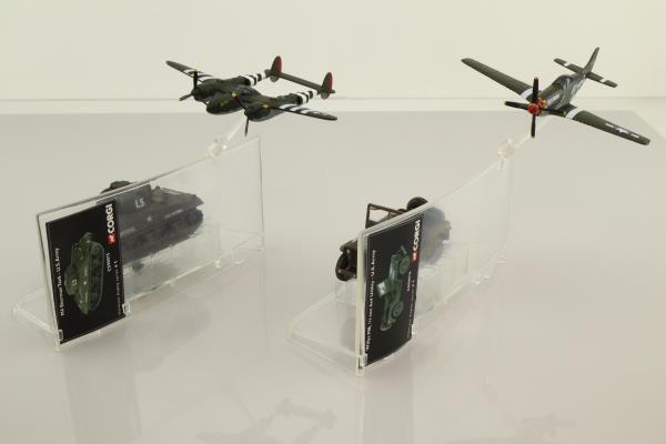 Corgi CSCW19004; Operation Overlord 4 Pce Set; Jeep, Sherman Tank, Lightning & Mustang