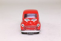 Corgi 96746; Morris Minor Saloon; Rally Trim, RN323, Red