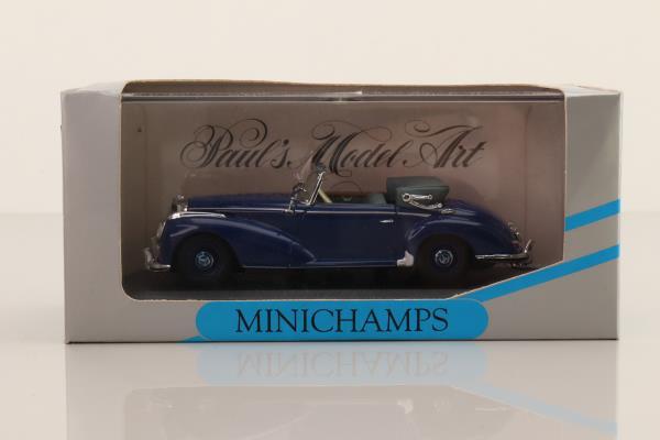 Minichamps 032331; 1951 Mercedes-Benz 300 S; Cabriolet; Dark Blue