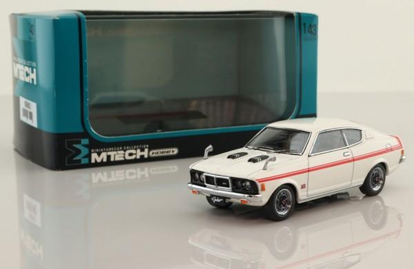 M Tech H-03-B; Mitsubishi Colt Galant GTO; White, Red Stripe