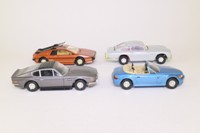 Corgi Classics CC99106; James Bond Film Canister Set; Aston DB5 & V8, Lotus, BMW Z3
