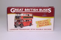 AEC RTW Double Decker Bus; London Transport: Rt 22 Chelsea Worlds End, Hyde Park Corner, Sloane Sq, Parsons Green, Putney Bridge; Atlas Editions