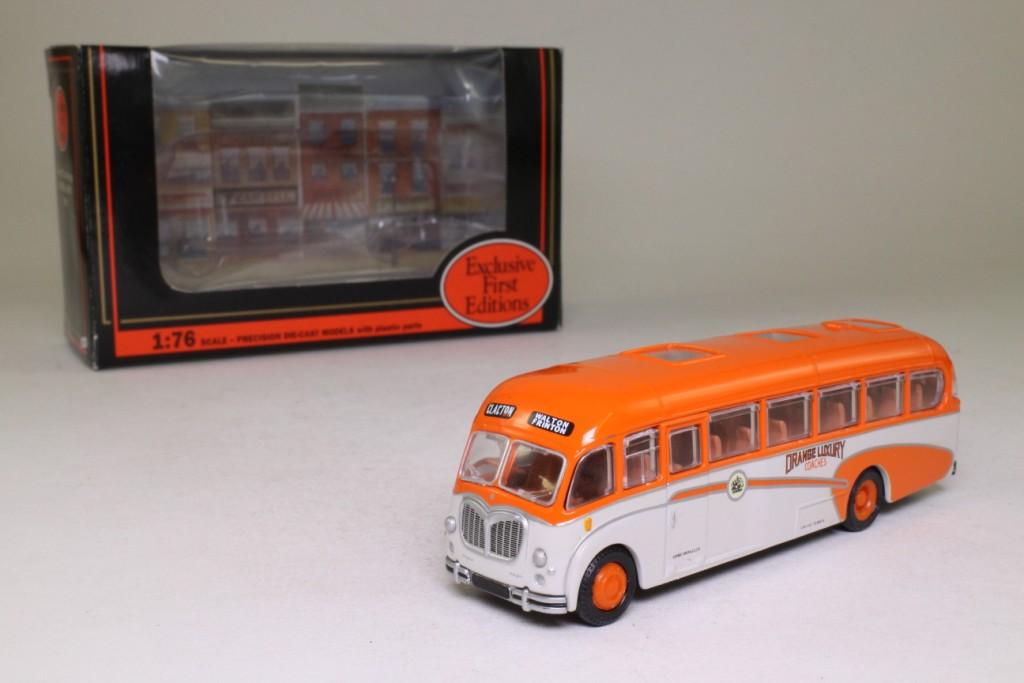 EFE 18701; Bedford SB Duple Vega Coach; Orange Luxury Coaches;  Clacton, Walton, Frinton