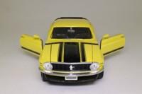 ERTL 7484; 1970 Ford Boss Mustang; Yellow, Black, Opening Doors & Bonnet