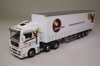 Oxford Diecast MAN04CS; MAN TGX XXL Artic; Curtainside, John Mitchell