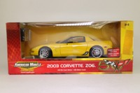 ERTL 33502; 2003 Chevrolet Corvette ZO6; Bright Yelow