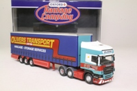 Oxford Diecast SCA07CS; Scania R Cab Artic; Curtainside Trailer, Olivers Transport