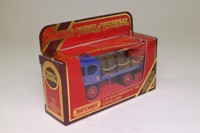 Models of Yesteryear Y-18/2; 1918 Atkinson Model D Steam Wagon; Bass and Co With Barrels & Chains; Blue/Black/Red