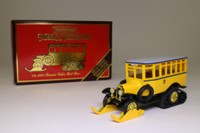Models of Yesteryear Y-16/4; 1922 Scania Vabis Half Track Bus; Post Bus, yellow