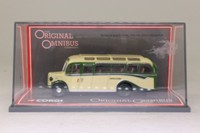 Corgi OOC 42503; Bedford OB Duple Vista Coach; With Quarterlights; Hants & Dorset; Dest: Bournemouth