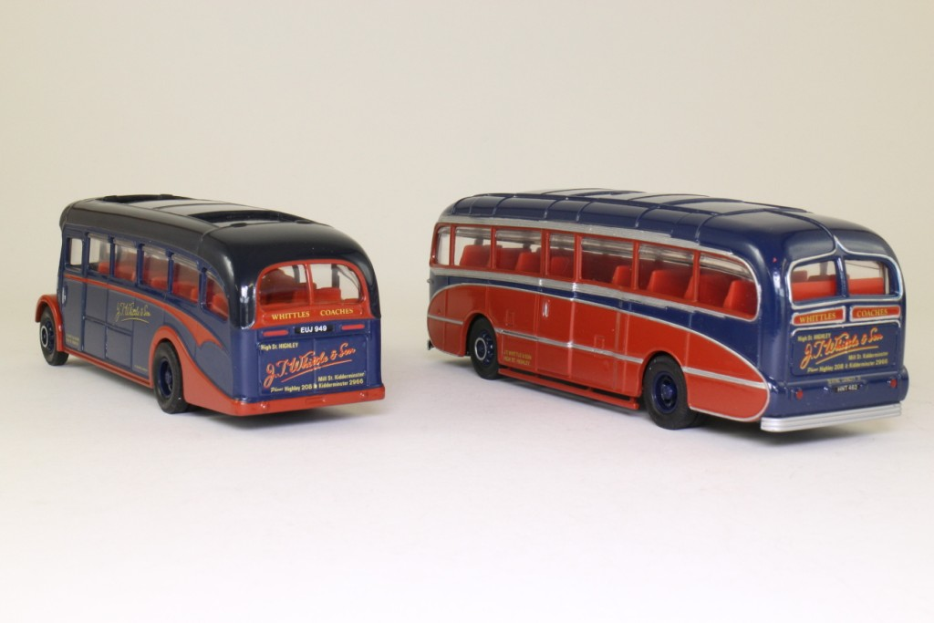 Corgi Classics 97069; Whittles of Kidderminster 2 Coach Set; Burlingham Seagull & AEC Regal