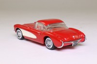 Dinky Toys DY-23; 1956 Chevrolet Corvette hard-top; Red & White