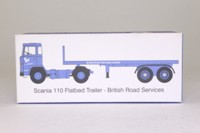 Oxford Diecast 76SC110001; Scania 110; 2 Axle Flatbed, British Road Services