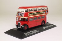 AEC RTW Double Decker Bus; London Transport: Rt 22 Chelsea Worlds End, Hyde Park Corner, Sloane Sq, Parsons Green, Putney Bridge; Atlas Editions
