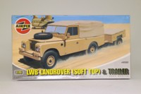 Airfix A02322; Army Land-Rover 109 & Trailer; Unassembled Plastic Kit