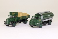 Vanguards BO1002; Boots Delivery Trucks 2 Pce Set; Bedford S Tanker & Leyland Comet Dropside