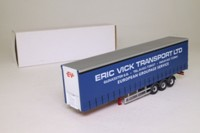 Oxford Diecast MAN02CS-T; Curtainside Trailer; Eric Vick Transport Ltd
