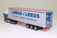Oxford Diecast DAF07CS; DAF XF Artic; Curtainside Longs of Leeds