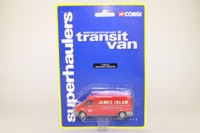 Corgi 1:64 Scale TY81712; Ford Transit Hi-Roof; James Irlam Logistics