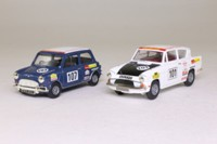 Vanguards HI1002; Historic Rally 2 Car Set; Mini Cooper & Racing Ford Anglia