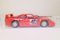 Burago 0532; 1987 Ferrari F40 Pininfarina; Red, Opening Doors & Engine Cover