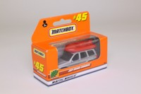 Matchbox/Lesney MB-45; Jeep Grand Cherokee; With Boat, Silver Metallic