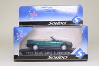 Solido 1529; BMW 325i Cabriolet; Open Top, Metallic Green, Tan Interior