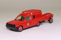 Solido 2130; Renault 5 Express Van; Pompiers Vitre, Moto Pompe Trailer