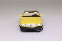 Newray 48439; Mercedes-Benz 600SL (1992); Open Top, Yellow