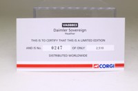 Vanguards VA08803; Daimler Sovereign; Heather