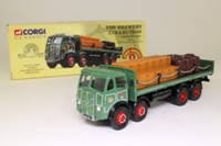 Corgi Classics 09801; ERF V; 8 Wheel Rigid Flatbed with Chains; John Smiths Brewery; Crates & Barrels Load