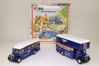 Corgi Classics C82; Corgi on the Move 2 Bedford Set; OB Coach & O Series Pantechnicon
