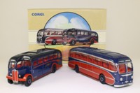 Corgi Classics 97069; Whittles of Kidderminster 2 Coach Set; Burlingham Seagull & AEC Regal