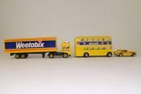 Corgi; Weetabix Car, Bus & Truck Set; Volvo Artic, Aston Martin & Routemaster Bus