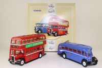 Corgi 97076; W Alexander & Sons 2 Bus Set; Guy Arab 9B Perth & Bluebird Leyland Tiger Peterhead