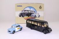Corgi Classics 97698; Metropolitan Police Panda Car & Bus Set; Morris Minor & Bedford OB Coach