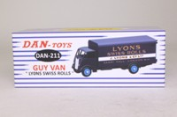 Dan Toys 211; Guy Van; Lyons Swiss Rolls, Dark Blue, Type 1 Cab