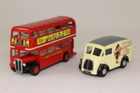 Corgi Classics D47/1; Beano 2 Pce Set: Morris J & AEC RT Bus; Bash St Kids & Minnie the Minx