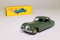 Dinky Toys 157; Jaguar XK120; Dark Sage Green, Fawn Hubs