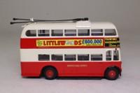 Corgi OOC 40107; Weymann /BUT Trolleybus; Brighton Hove & District; Rt 41 Old Steine Circular, The Level, Elm Grove, Queen's Park Rd, Rock Gardens, St James St