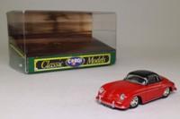 Corgi Classics D741/1; Porsche 356a Speedster; Hard Top; Red & Black