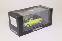 Minichamps 430 055141; 1974 Volkswagen Beetle 1303 Cabriolet; World Cup '74, Lime & Black