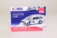 Vanguards VA11307; 1980 Talbot Sunbeam; 1988 Wales Rally, Richard Burns & John King, RN85