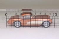 Dinky Matchbox DY-23B; 1956 Chevrolet Corvette Hard-Top; Copper & Cream