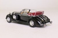Minichamps 436 012030; 1938 Horch 853A Convertible; Open Top, Black