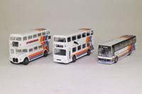 Corgi Classics 97065; Stagecoach 3 Bus Set; Plaxton Coach, AEC Routemaster Bus, Metrobus Double Decker