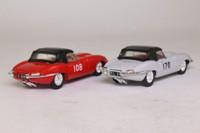 Corgi Classics 97701; The Racing E Types Gift Set; 2x Jaguar E Types: Ivory RN170 & Red RN108