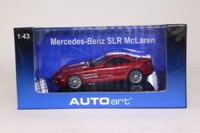Auto Art 56123; 2003 Mercedes-Benz SLR McLaren (R230); Dark Red