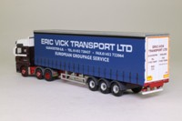 Oxford Diecast MAN02CS; MAN TGX XXL Artic; Curtainside, Eric Vick Transport