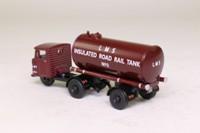 Oxford Diecast 76MH010; Scammell Mechanical Horse; LMS Tanker Trailer